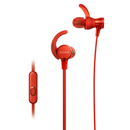 Sony MDR XB510AS Wired Sports in Ear Splashproof Headphones with Tangle Free Cable, 3.5mm Jack, Headset with Mic for Phone Calls and 1 Year Warranty