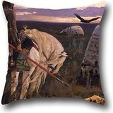 (Oil Painting Victor Vasnetsov - Knight At The Crossroads Pillow Cases ,best For Couch,play Room,son,family,drawing Room,floor 20 X 20 Inches / 50 By 50 Cm(2 Sides))