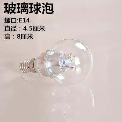 Downlights 3W5W7W Vidrio Transparente Bombilla Led Luz Blanca cálida Luz E27 Screw Bombilla Ahorro de Energía, 5, G45 E14 Bombilla de Vidrio, ...