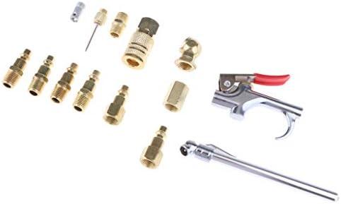 エアコンプレッサーホースキット 空気注入口 1/4インチNPT 空気圧ツールキット 14本セット