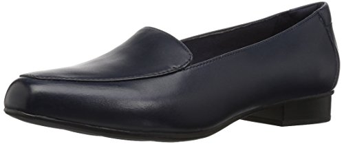 CLARKS Women's Juliet Lora Loafer, Navy Leather, 060 M US ()