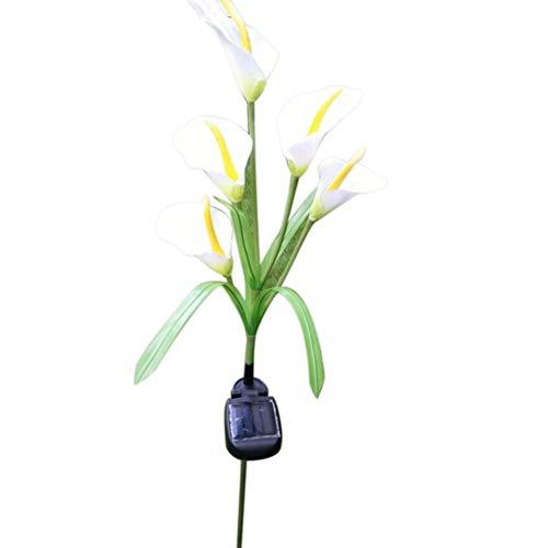 TTShonf Outdoor Solar 5-LED Calla Flower Light Yard Lawn Garden Pathway Decorative Lamp 1