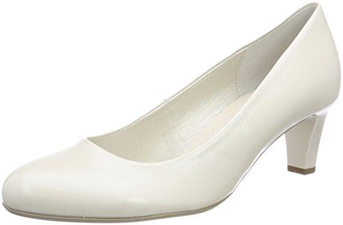 Gabor Damen Basic Pumps Weiß (Off-White+Absatz)