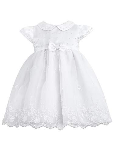 Dresses Sarah Christening Louise - Sarah Louise White Ceremonial Ballerina w/Lace Detailing (White, 12 Months)