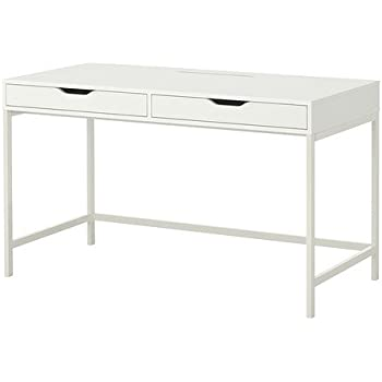 ikea alex computer desk with drawers white office products. Black Bedroom Furniture Sets. Home Design Ideas