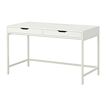 Amazoncom Ikea Alex Computer Desk with Drawers White Office