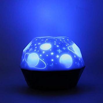Led Noche Luz Usb Proyector De Carga Luna Luces Niños Habitación ...