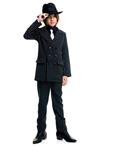 Thin Pinstriped Gangster Kids Costume