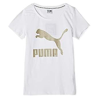 Puma Classics Logo Tee G white Shirt For Kids, Size 13-14 Years