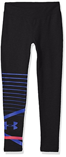 Girls Legging Coldgear (Under Armour Girls Finale Knit Leggings, Black (001), Youth Small)