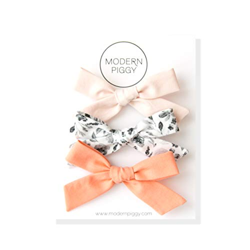 (Hand-Tied Bow Set of 3 (Alligator Clip 2))