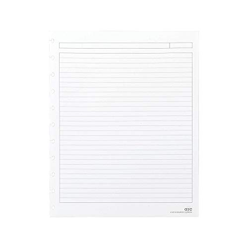 Letter Notebook - Staples? Arc Notebook Filler Paper, Letter-Size, Narrow-Ruled, White, 8 1/2