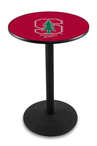 """UPC 071235030841, L214 - 36"""" Black Wrinkle Stanford Pub Table by Holland Bar Stool Co."""