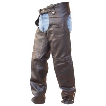 Men's TALL Version Heavy Duty Premium Buffalo Leather Motorcycle Chaps w inner-lining n YKK hardware
