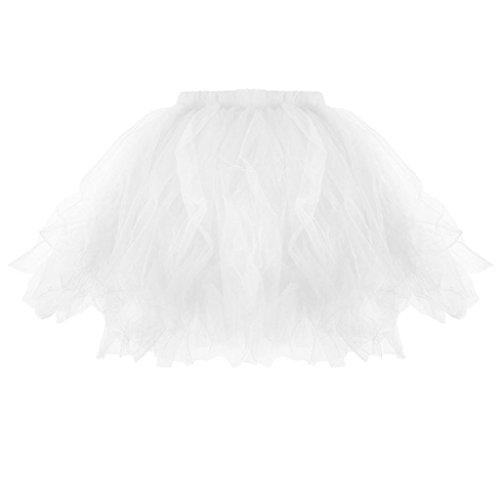XILALU Womens Girls Tutu Skirt Pleated Mini Skirts Dancing Dress Performance Costume Mini Dress ()