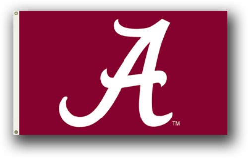 University of Alabama Crimson Tide Logo 3' X 5' Flag With Metal Grommets