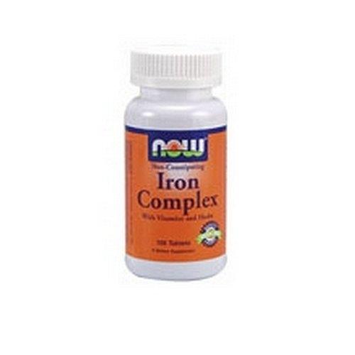 NOW Iron Complex, 100 Tablets