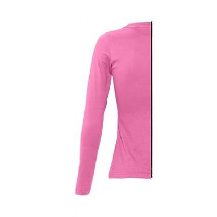 12 - T-shirt bicolore femme manche longue côté droit rose orchidée   Amazon.fr  Vêtements et accessoires 44a19ec7cb9f