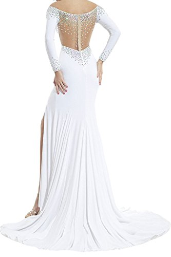 Toscana novia EXQUISIT Ranura de plata estrellas gasa noche a largo bola de fiesta vestidos morado 50
