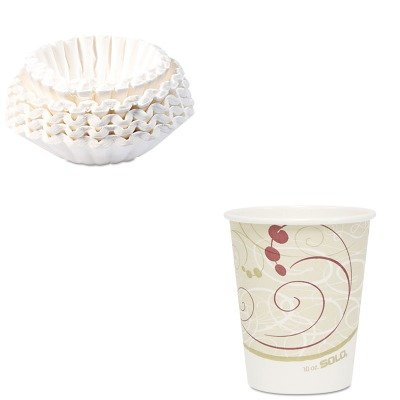 KITBUN1M5002SLO370SMSYM - Value Kit - Solo Hot Cups (SLO370SMSYM) and Bunn Coffee Commercial Coffee Filters (BUN1M5002) by Solo