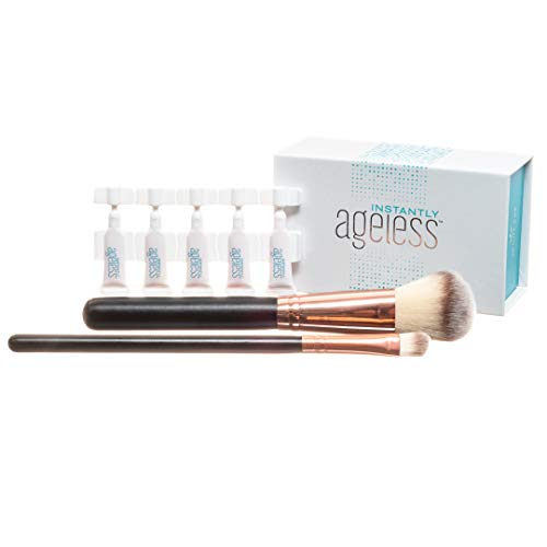 Jeunesse Instantly Ageless 25 Vials w/ 2 FREE Professional Makeup Brushes | Instantly Ageless 25 Vial Box Set with 2 FREE FULL SIZE Professional Brush -