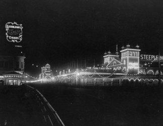 1911 photo Boardwalk at night, Atlantic City, New Jersey Vintage Black & Whit - Jersey Vintage Vancouver