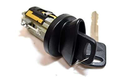 PT Auto Warehouse ILC-322L - Ignition Lock Cylinder with Keys - without Transponder