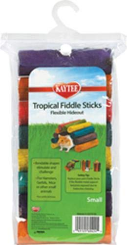 Tropical Fiddle Stick - Superpet (Pets International) Kaytee Tropical Fiddle Sticks, Flexible Wood Hideout Toy, Small