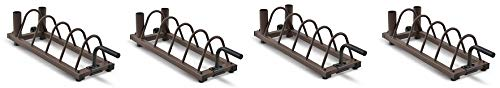 Steelbody Horizontal Plate and Olympic Bar Rack Organizer with Steel Frame and Transport Wheels STB-0130 (4-(Pack))