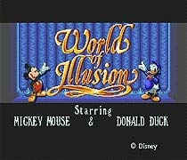 - The Crowd Tradensen World of Illusion Starring Mickey Mouse & Donald Duck 16 Bit Md Game Card for Sega Mega Drive for Sega Genesis