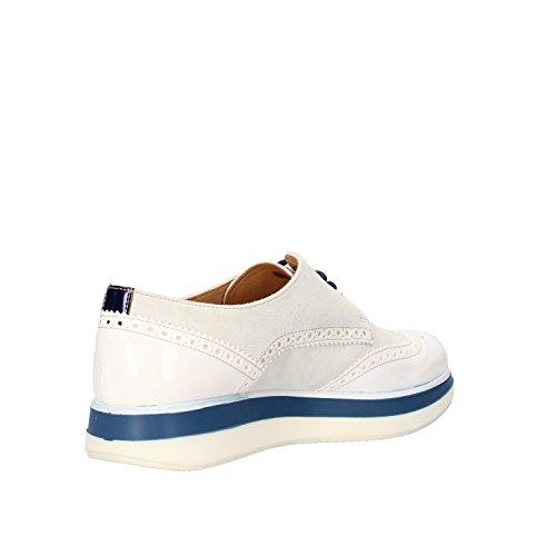 JACKAL zapatos elegantes mujer blanco gamuza Azul cuero de ante AG862