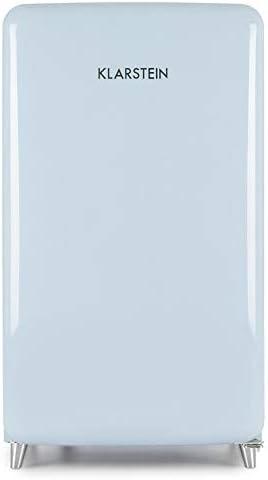 Klarstein PopArt Blue Retronevera - Frigorífico combi, Nevera 108L ...