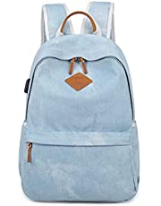 XHHWZB Laptop Backpack, Travel Laptop Backpack for Women Girls with USB Charging Port & Headphone Interface School Bookbag Water Resistant College Backpack