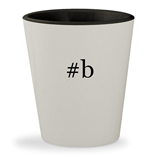 #b - Hashtag White Outer & Black Inner Ceramic 1.5oz Shot Glass