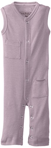 L'ovedbaby Baby Girl Organic Sleeveless Overall, Lavender, 9/12 Months