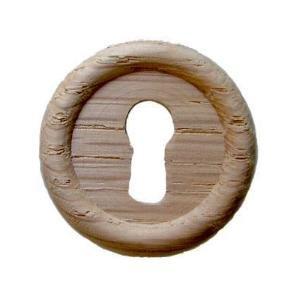 Oak Keyhole Cover (O-3 LARGE ROUND OAK KEYHOLE COVER + FREE BONUS (SKELETON KEY BADGE))
