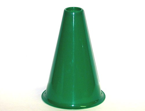 Plastic Cheerleading Megaphones, 8 Inches Tall, (Pack 16) Kelly Green