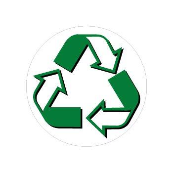 Recycle Symbol Circle - Window Bumper (Recycle Symbol Circle)