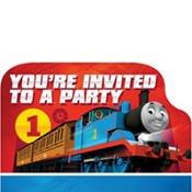 Invitations Thomas The Birthday Tank (Amscan Thomas All Aboard Postcard Invitations,  8 Count)
