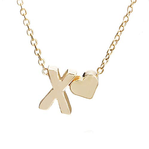 tfulvan Women Cute Heart Letter Choker Chain Pendant Lady Necklace Jewelry Mother's Day Easter Gift ()