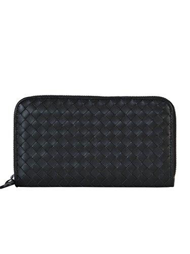 bottega-veneta-womens-114076v001n1000-black-leather-wallet