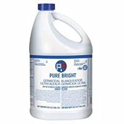 Pure Bright Liquid Bleach, 1 Gallon Bottle - four 1-gallon bottles of bleach.