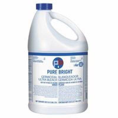 Pure Bright Liquid Bleach, 1 Gallon Bottle - four 1-gallon bottles of bleach.