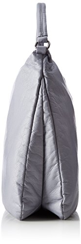Boscha Damen Pouch Henkeltasche, 6x31x39 cm Grau (Grey)