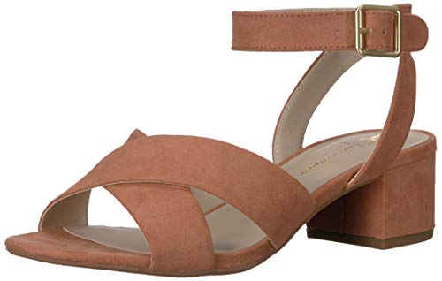BC Footwear Women's Smell The Roses Heeled Sandal, Peach, 6.5 Medium US
