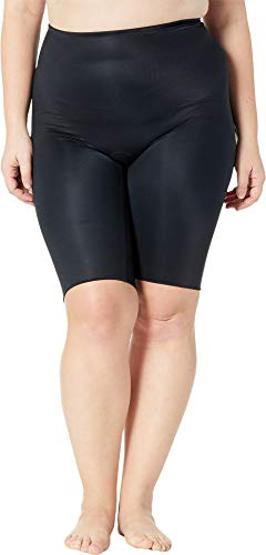 SPANX Women's Plus Size Power Conceal-Her Extended Length Shorts Very Black 3X