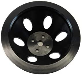 Aluminum Short Water Pump Pulley for SBC 283-350 1955-68 Upper Single Groove Black Finished