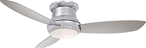 Minka-Aire F518L-PN, Concept II LED Polished Nickel Flush Mount 44