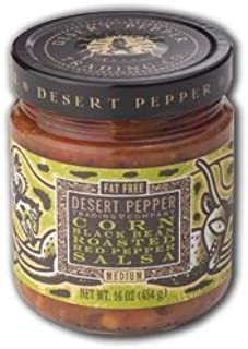 product image for Desert Pepper, Black Bean, Roasted Pepper, and Corn Salsa-Medium, 16 Ounce Jar