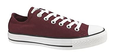 1b58302ab161 Image Unavailable. Image not available for. Color  Converse Chuck Taylor  All Star Lo Top Cranberry Canvas Shoes 117378F ...